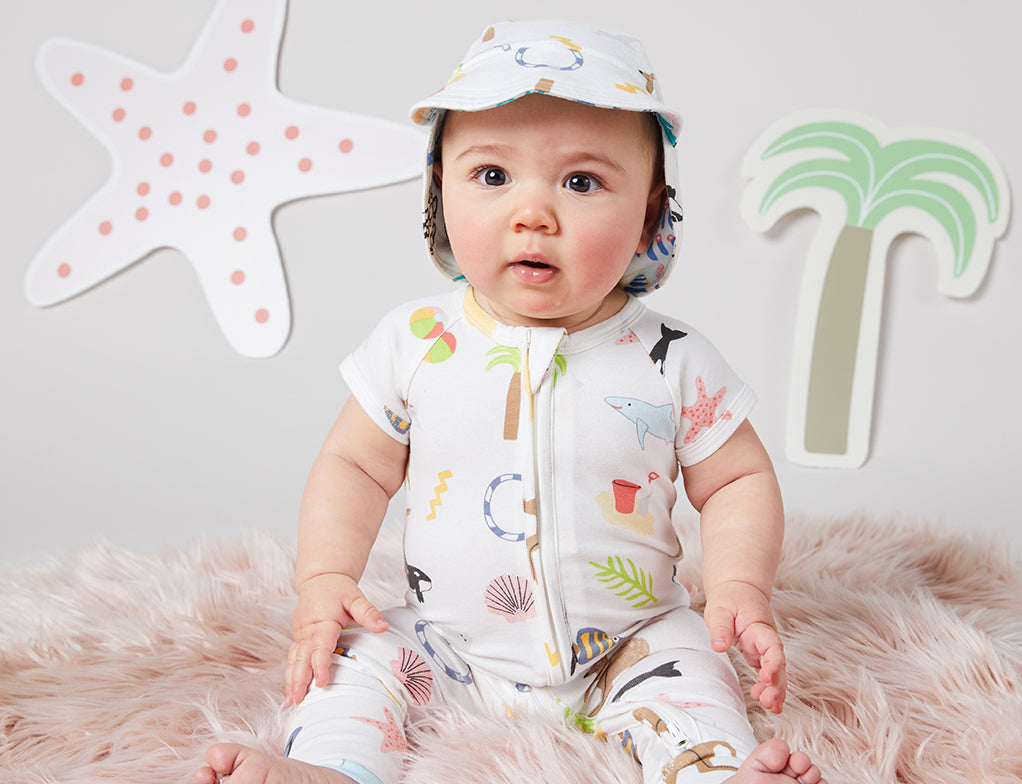 Beach Combers Short Sleeve Sleep Suit