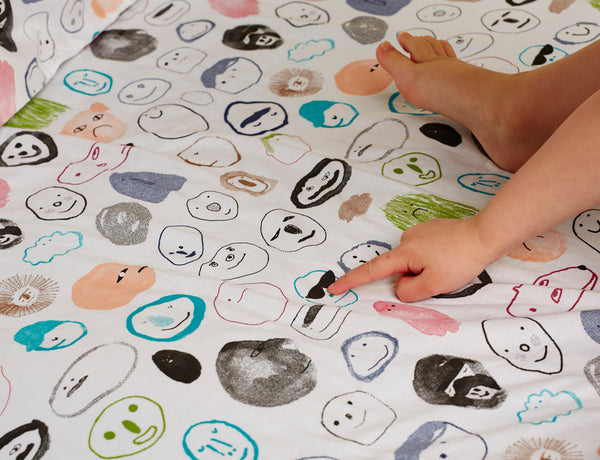 Secret Friends Change Mat Cover (Large Bassinet Sheet)