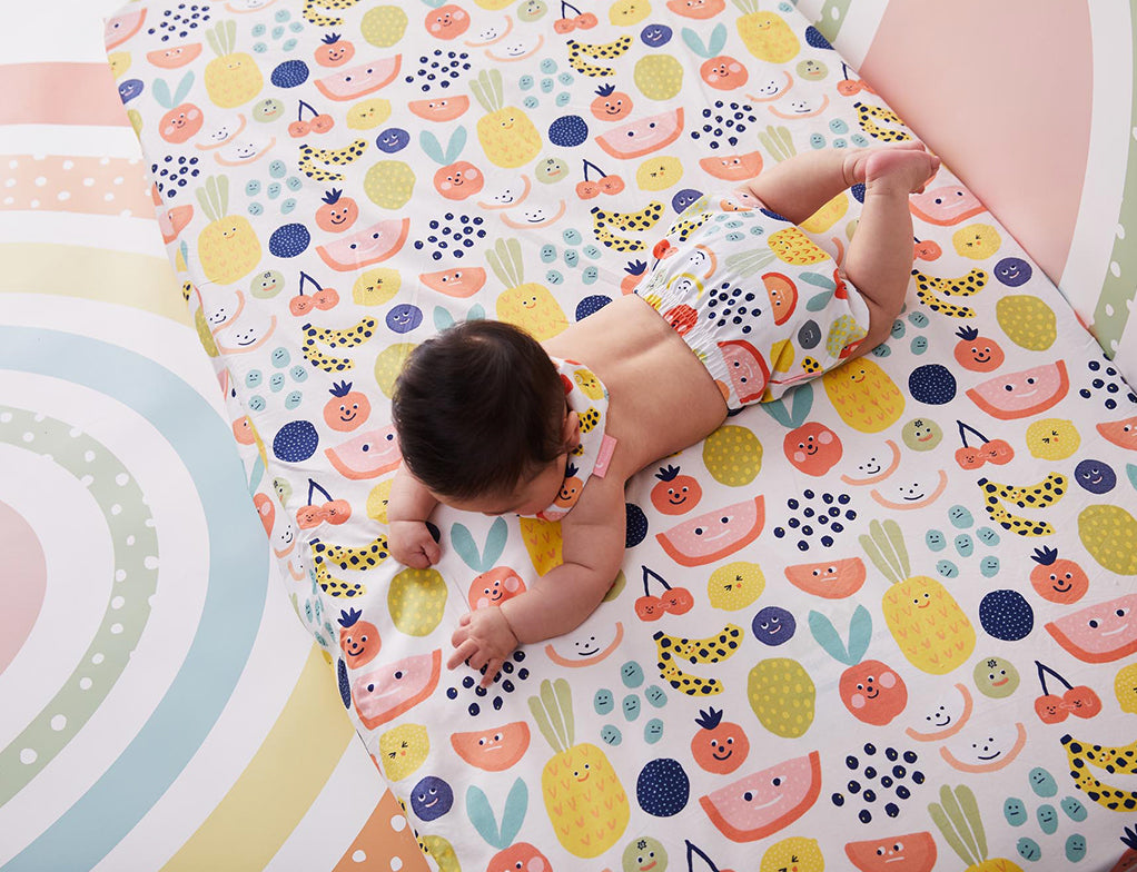 FRUIT TINGLE - FITTED COT SHEET