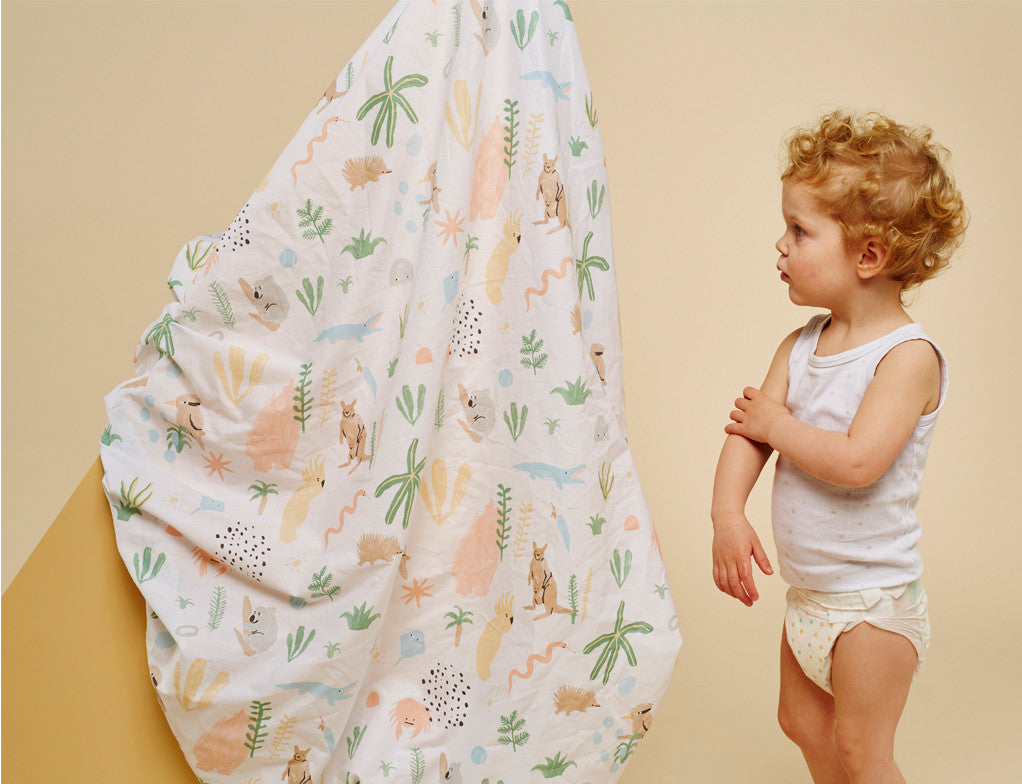 Outback Dreamers Fitted Cot Sheet