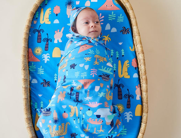 MEGAFAUNA - FITTED BASSINET SHEET
