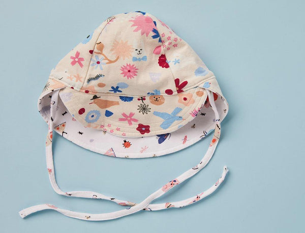 Reversible Sun Hat ~ Florida Print