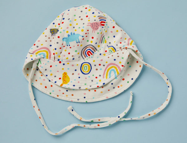 Reversible Sun Hat ~ Saturday Print