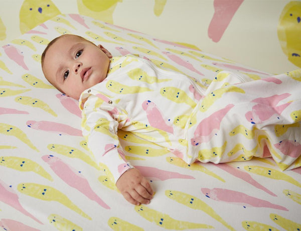 SLEEPING BAG SWADDLE - LUJV BIRDS - ORGANIC COTTON