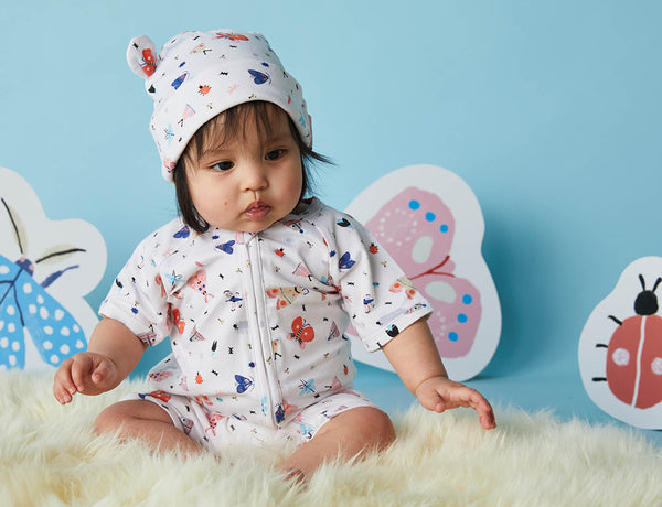 Summer Sleep Suit ~ Love Bugs