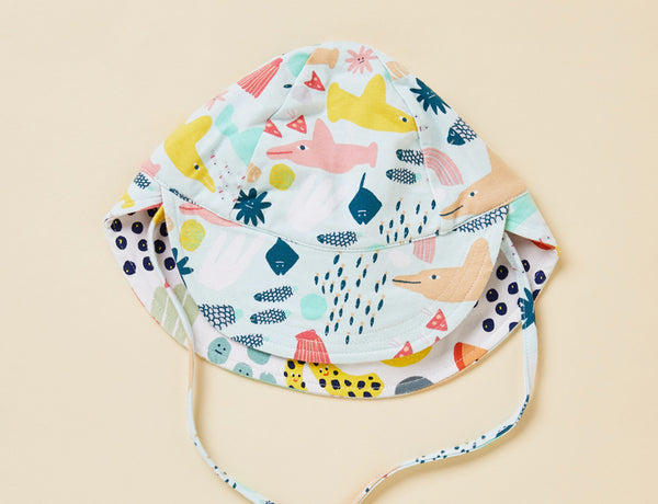 SUN HAT - REVERSIBLE - SWIM TEAM