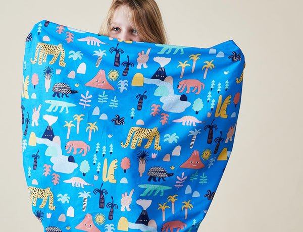 FITTED COT SHEET - MEGAFAUNA