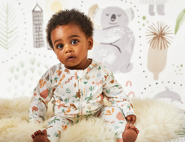 OUTBACK DREAMERS - LONG SLEEVE ZIP SLEEPSUIT