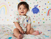 Summer Sleep Suit - Saturday Print