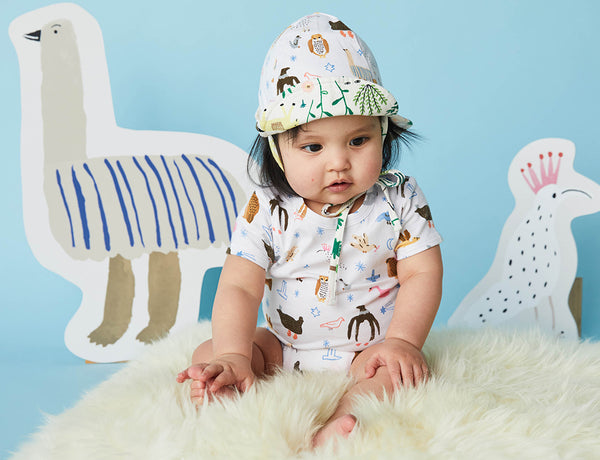 High Flyin' Birds Print - Reversible Sun Hat