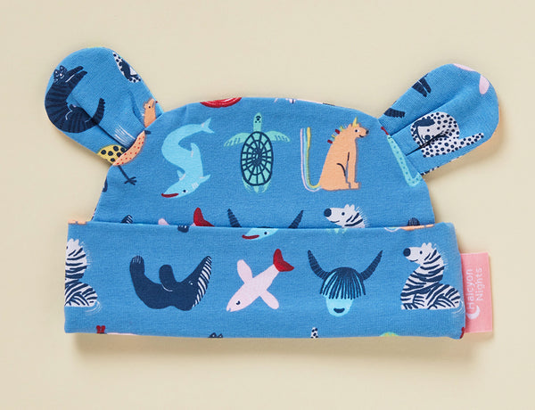 ABC OF ANIMALS - TWILIGHT - LUNAR BABY HAT