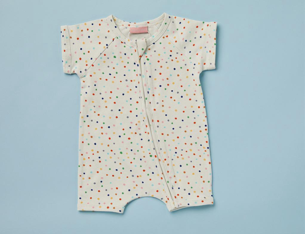Summer Sleep Suit ~ Sunday Print