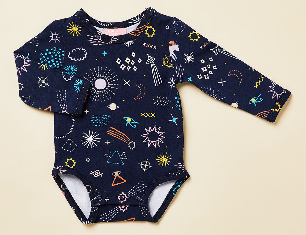 LONG SLEEVE BODY SUIT - MILKY WAY