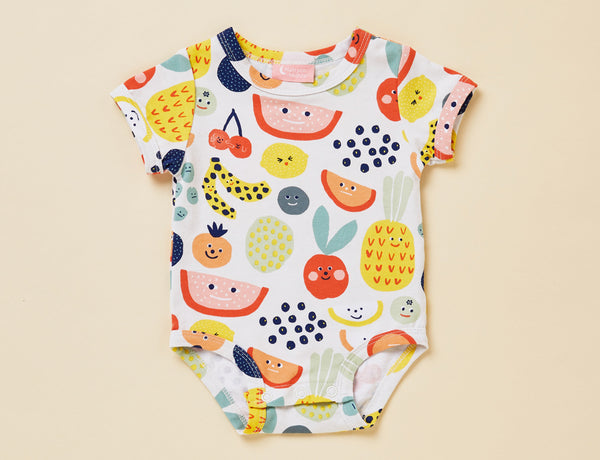 SHORT SLEEVE BODYSUIT - FRUIT TINGLE