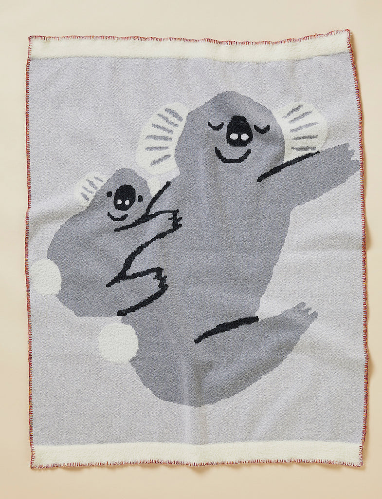 BIG HUGS KOALA - KNIT BLANKET 100% COTTON