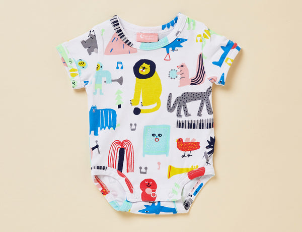 BIG BAND PARTY - SHORT SLEEVE BODYSUIT