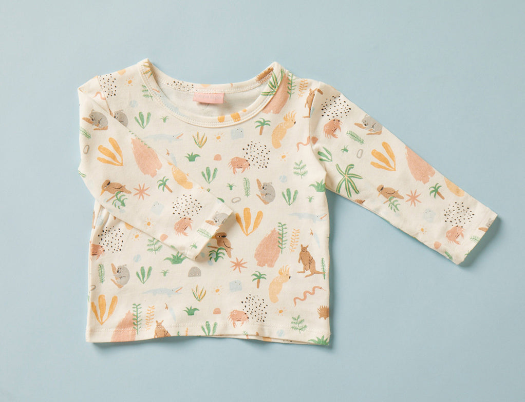 Long Sleeve Tee - Outback Dreamers Cream
