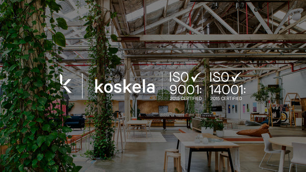 Koskela is ISO 9001: 2015 and ISO 14001: 2015 certified!