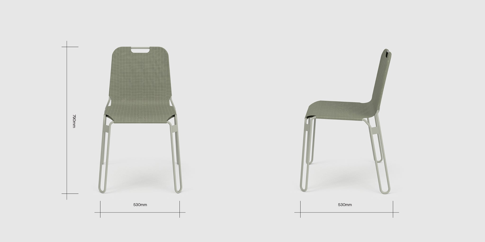 Alice Series Chair Dimensions