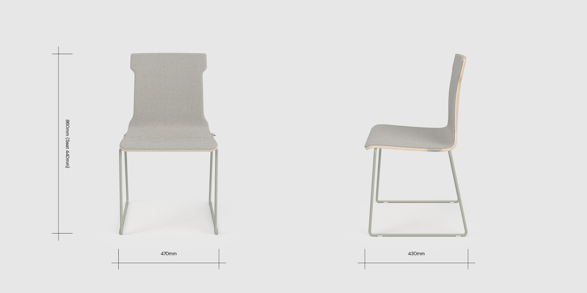 Konverse Upholstered Chair Dimensions