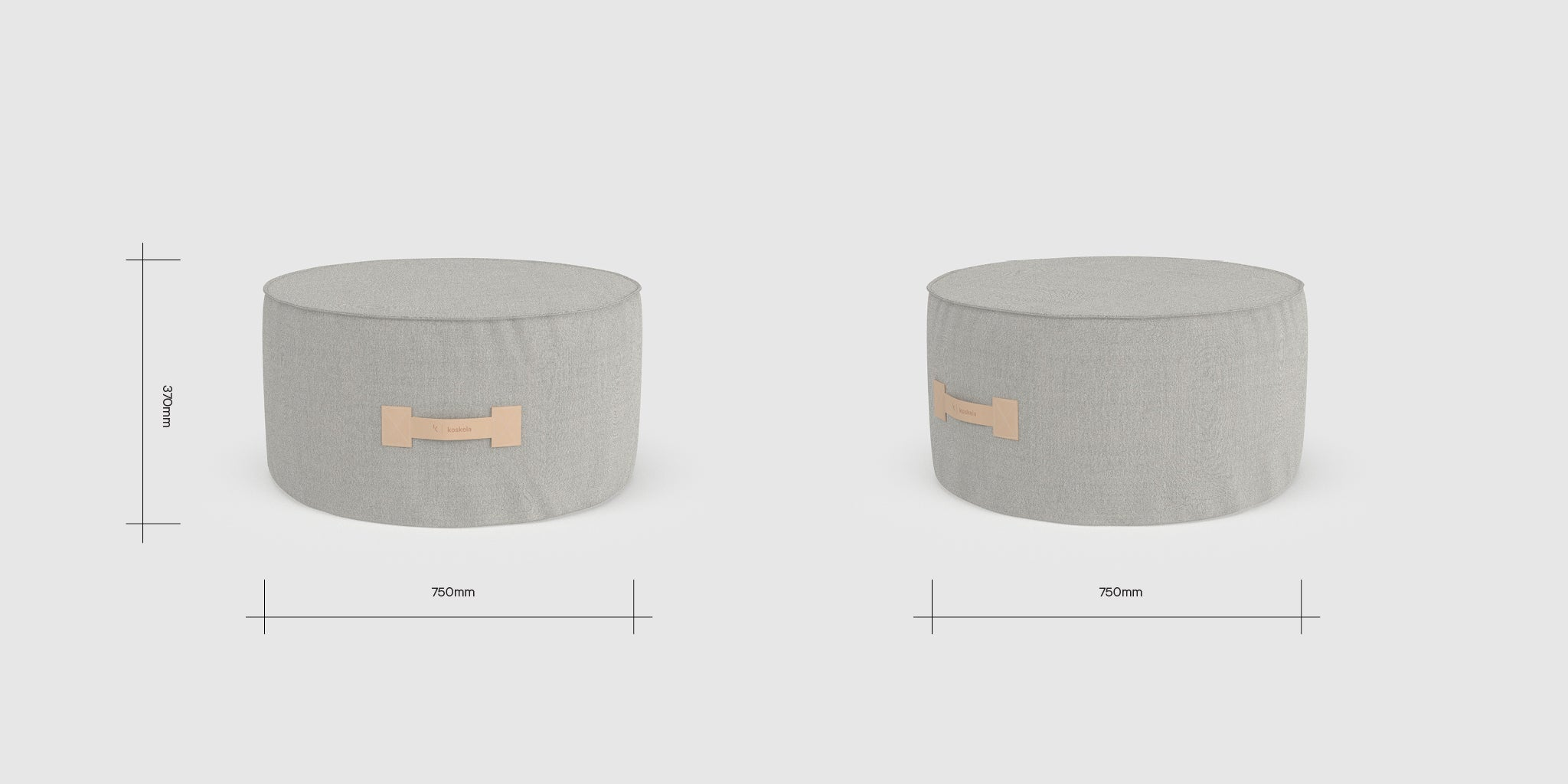 Quadrant Soft Curved Ottoman Dimensions