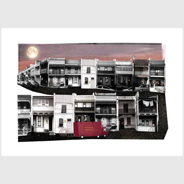Alphabetical Sydney Print - T is for Terrace Houses