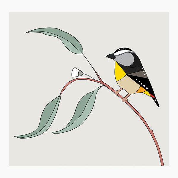 Print - Spotted Pardalote and Eucalyptus - Small