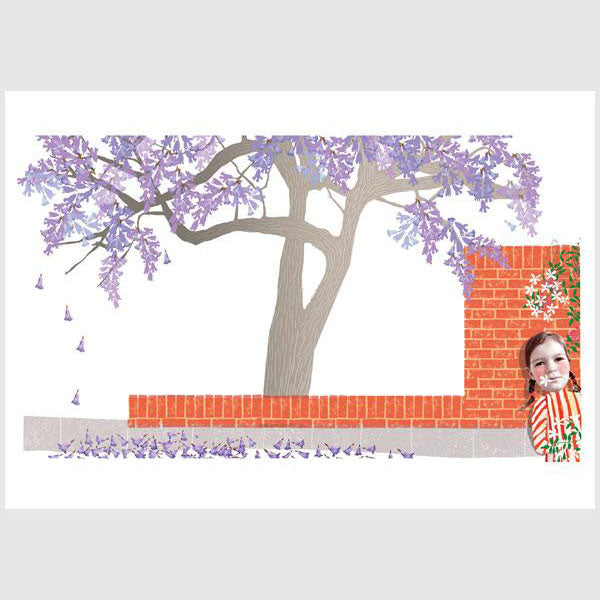Alpabetical Sydney Print - J is for Jacaranda
