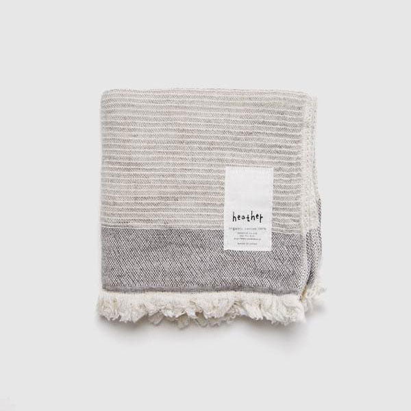 Heather Face Washer - Stripe Grey
