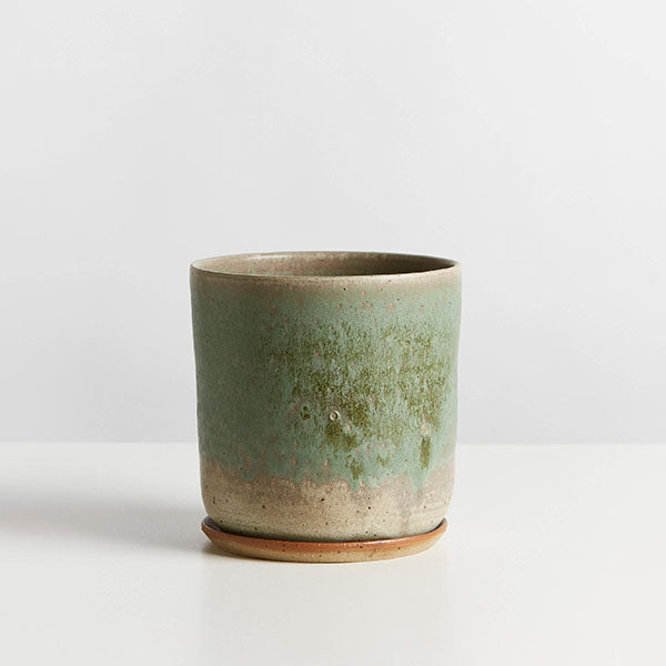 Planter and Saucer - Extra Large - Moss Green