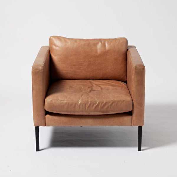 Imperfect - Classic Armchair - Tan Leather