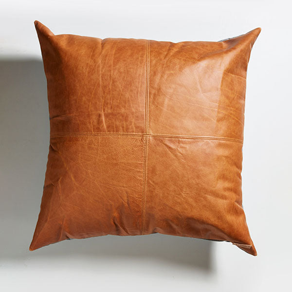Leather Floor Cushion - Tan