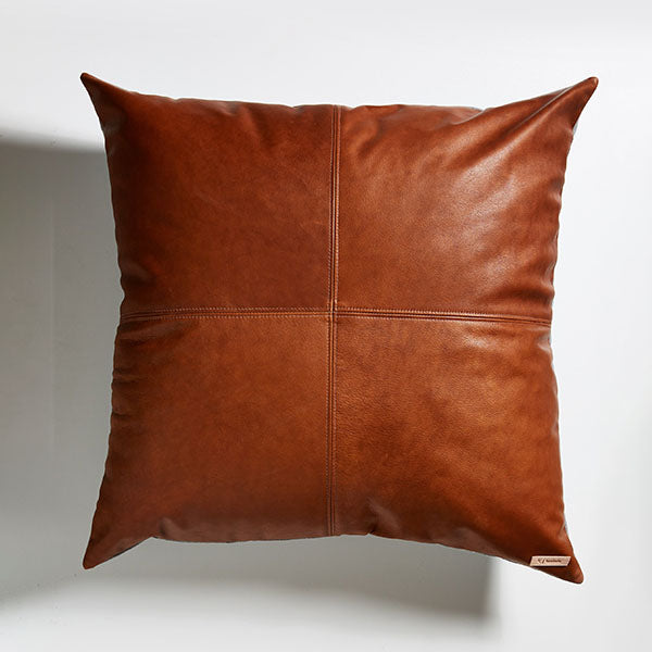Leather Floor Cushion - Chestnut