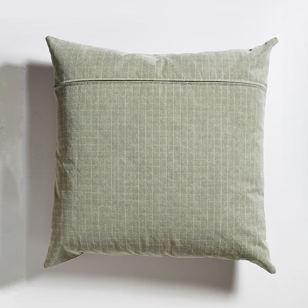Leather Floor Cushion - Olive