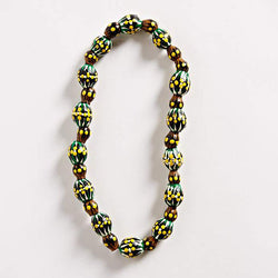 Painted Gumnut Seed Necklace - Green