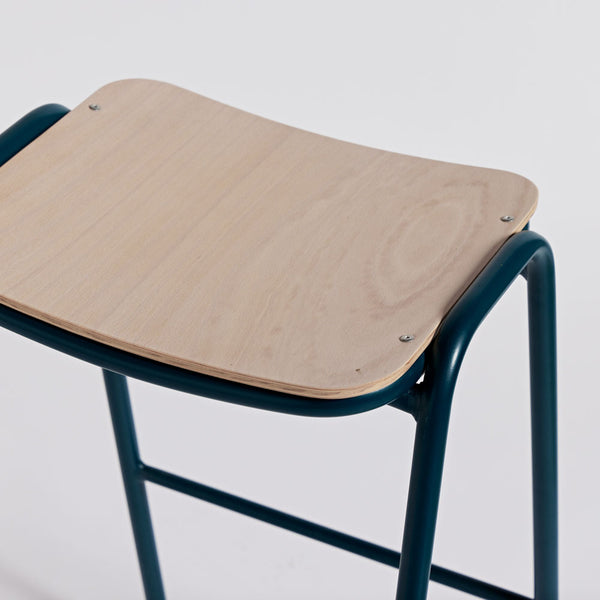 Imperfect - Jake High Stool No Back - Petrol