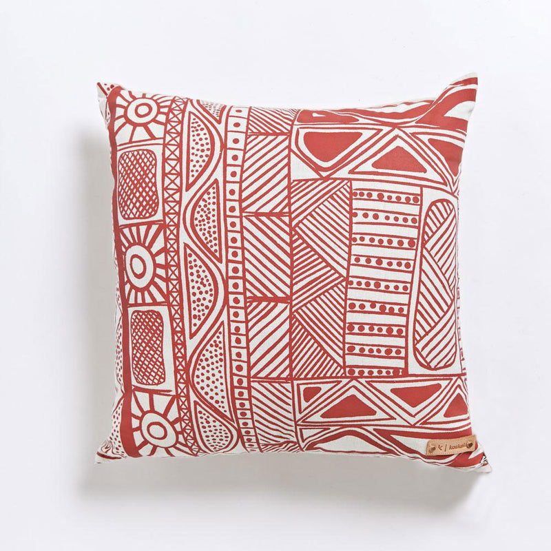 Cushion - Patrick Freddy Puruntatameri - Red on Cream