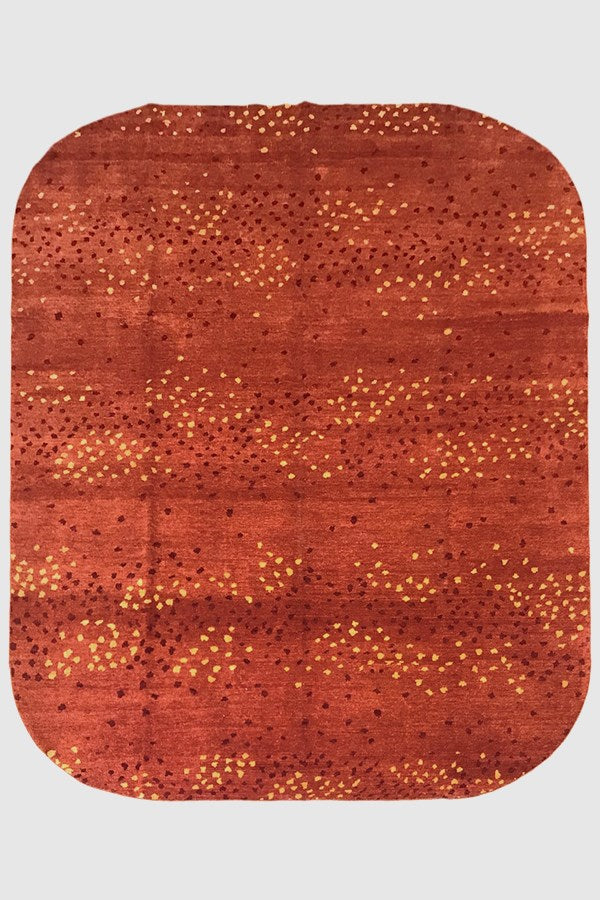 Floor Rug - Contemporary Pure Wool Dots - 5027