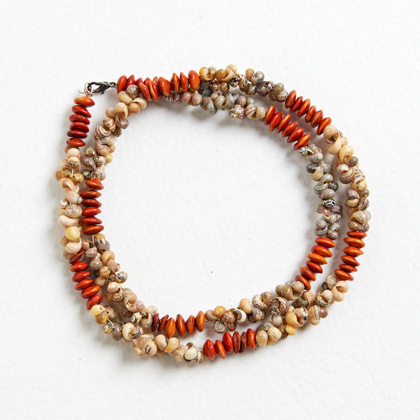 Wuladhi Ruluj Exhibition - Shell and Seed Necklace - Betty Mirniyoman