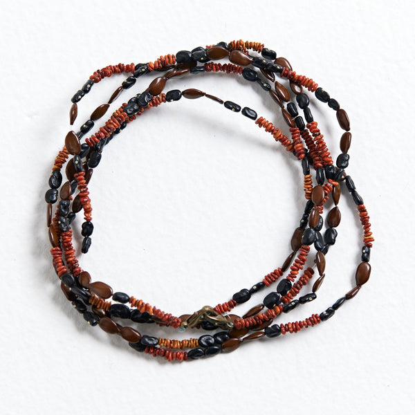 Wuladhi Ruluj Exhibition - Shell and Seed Necklace - Virginia Wilfred
