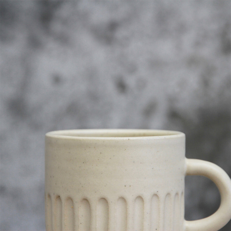 Handled Cup - White