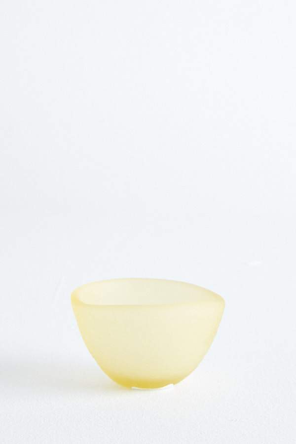 Glass Sorbet Bowl - Butter