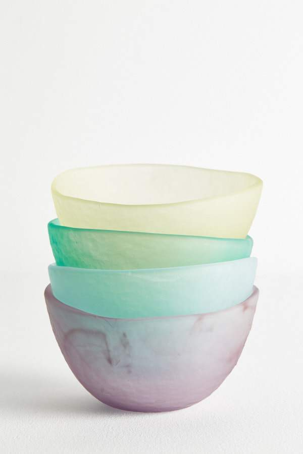 Glass Dessert Bowl - Teal