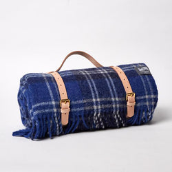 Travel Blanket with Koskela Leather Strap