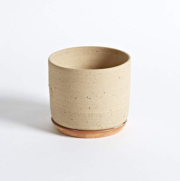 Planter and Saucer - Medium - Sand