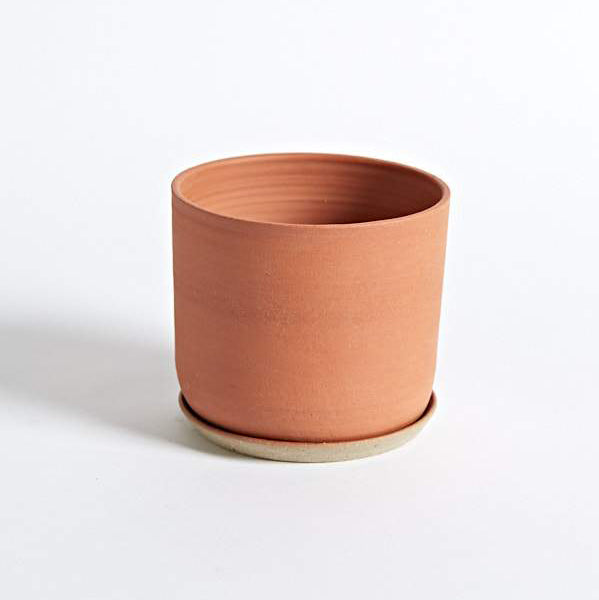 Planter and Saucer - Medium - Terracotta
