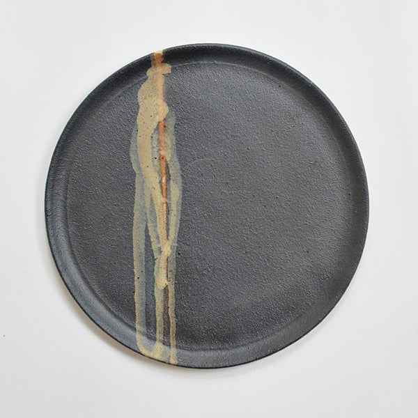 Dinner Plate - Matte Black/Brown Glaze