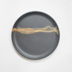 Lunch Plate - Matte Black/Brown Glaze