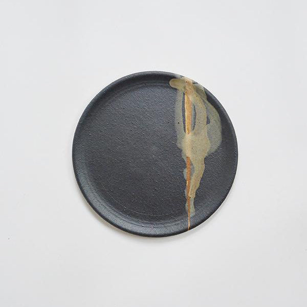 Side Plate - Matte Black/Brown Glaze