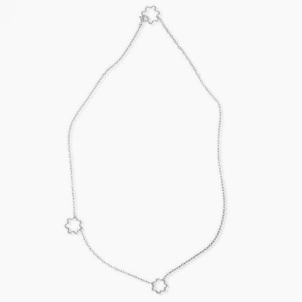 Wiggle Puff Necklace - Silver